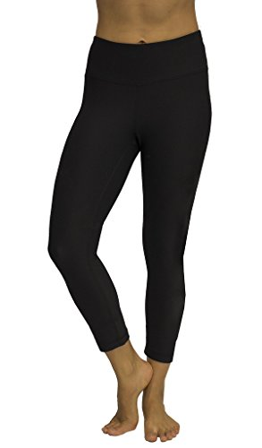 Velocity - Women's Solid Black Leggings - Performance Yoga Pants - Large