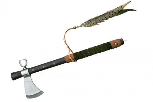 19 Inches Tomahawk with Leather Wrapped Handle Tomahawk Pipe