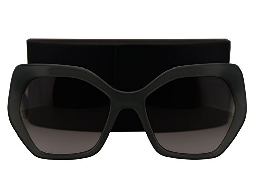 Prada PR16RS Sunglasses Opal Dark Green w/Grey Gradient Lens UEI4P2 - Round Sunglasses Prada Oversized