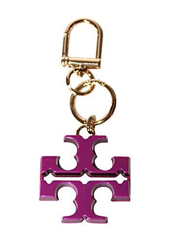 Tory Burch Resin T Logo Keyfob Key chain 52913 (Party Fuschia/Imperial Garnet) (Keychain Tory Burch)