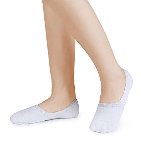 Buy womens liner socks white