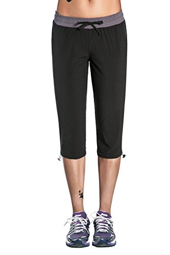 Cargo Capri Pants (Unitop Womens Capri Pants Cargo Crop Hiking Pants Black-3 S)