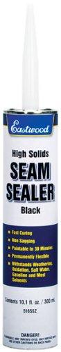 Eastwood Flexible Insulated Waterproof Black Seam Sealer Cartridge Floor Trunk Fender 10.1 oz