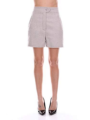 Blumarine Women's 14342Grey Grey Wool Shorts