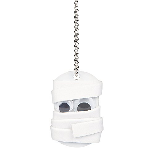 Fun Express - Mummy Dog Tag Necklace ck for Halloween - Craft Kits - Kids Jewelry Craft Kits - Kids Necklace - Halloween - 12 Pieces -