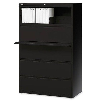 Lorell 5-Drawer Lateral File, 36 by 18-5/8 by 67-11/16-Inch, Black