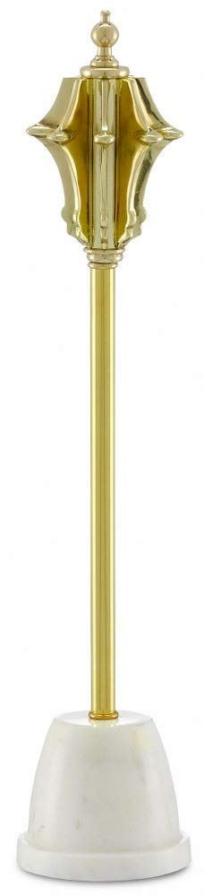 Currey & Company Home Large Brass Decorative Mace