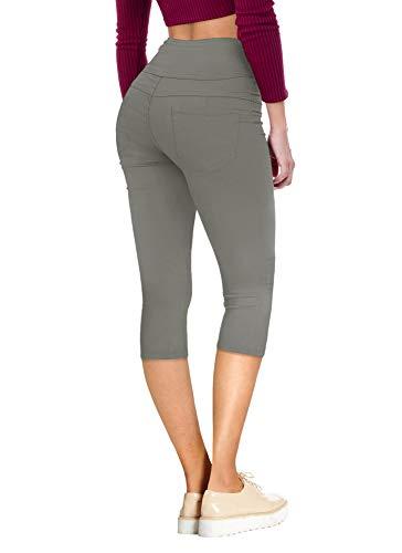 HyBrid & Company Women's Hyper Stretch Denim Capri Jeans Q45078 GUNMET 1
