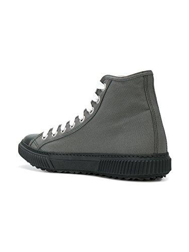 Prada Mænd 4t32183ojtf0h16 Grå Læder Hi Top Sneakers xTUu5E9N