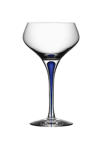 - Orrefors Intermezzo Blue 7 Ounce Champagne Coupe