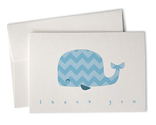 Blue Chevron Whale Baby Thank You Cards - 24 Cards & Envelopes]()