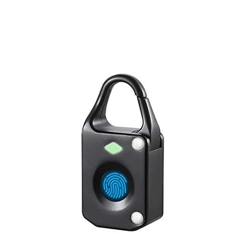 Gmt Combination Safe - Betty Smart fingerprint padlock security lock waterproof lock for cabinet suitcase bag luggage (Color : Black)