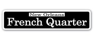 Chili Print French Quarter Street Sticker Sign nola Cajun Creole Jazz New Orleans Party Foodie Food - Sticker Graphic Personalized Custom Sticker Graphic