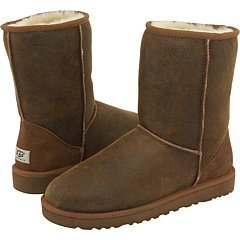 UGG Men's Classic Short Bomber Bomber Jacket Chestnut Boot 16 D (M) (Boots Classic Ugg Short Mens)