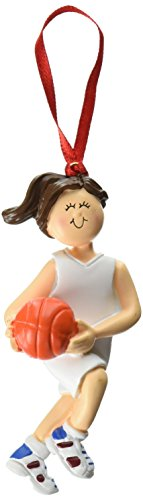 Ornament Central OC-101-FBR Female Basketball Figurine - Basketball Ornament