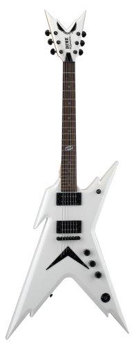 Dean Razorback Guitar, Dimebag Metallic White with Case (Electric Razorback Dean Dimebag Guitar)