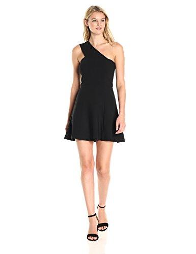 One Shoulder Mini (French Connection Women's Whisper Light Sleeveless Strappy Stretch Mini Dress, Black One Shoulder, 10)