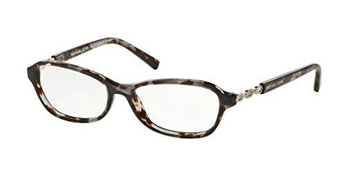 Michael Kors SABINA V MK8019 Eyeglass Frames 3107-51 - Black Tortoise/Silver - Silver Frames Eyeglass