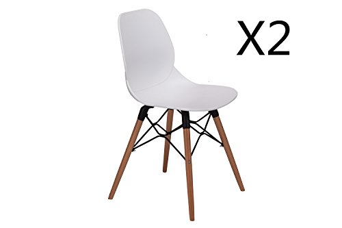 LCH 17.8 Inch Height Modern Dining Chairs - Mid Century ...