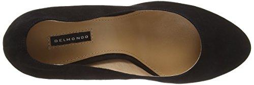 Belmondo 7032390 - zapatos de tacón cerrados de cuero mujer negro - negro