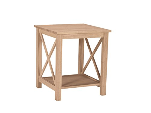 (International Concepts OT-70E Hampton End Table, Unfinished )