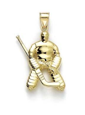 Goalee Pendentif JewelryWeb poli 14 carats