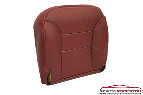 95-99 Chevy Silverado Driver Bottom Leather Seat Cover Red