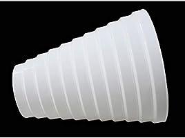 Yiliankeji Plástico Redondo Accesorios Conducto Tubo Reductor - Conductos Tubo Multi Anillo Reductor Extractor Ventilador Ventilación Manguera Conector Adaptador 100mm-200mm Blanco: Amazon.es: Bricolaje y herramientas