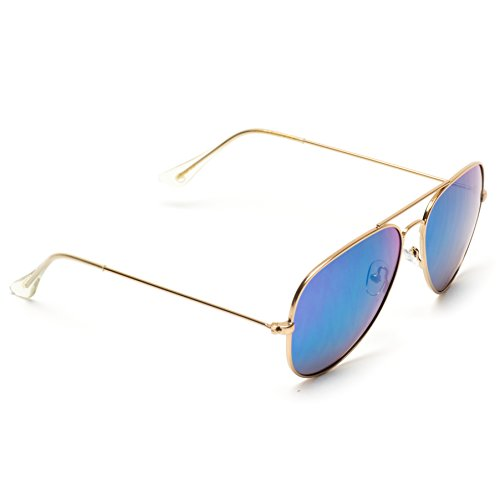 Frame gafas Green metal Espejo Gold Color sol Full Flashing Plateado de Aviator qHXzZz