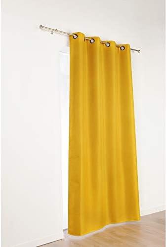 Color Amarillo Ocre-Cortina Opaca Linder 978//39//375FR//140 x 240 cm poli/éster 140 x 240 cm