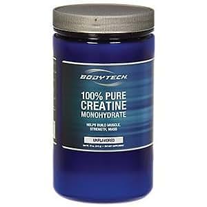 Amazon.com: BodyTech 100% Pure Creatine Monohydrate 5GM - Unflavored (18 Ounce Powder): Health