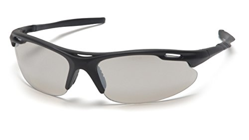 (Pyramex Safety Avante Eyewear, Black Frame, Indoor/Outdoor Mirror Lens)