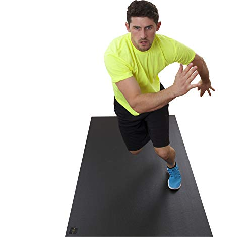 Square36 Large Exercise Mat 6 Ft x 3 Ft (72″ x 36″). Designed for Home Cardio Workouts with or Without Shoes. Ideal for Cardio, Aerobics, HIIT, TAM. Square36 Fitness Mat.