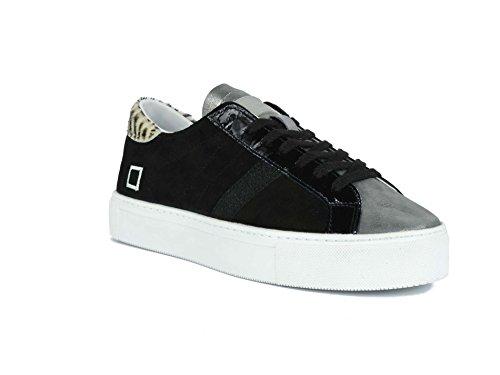 Nero T Negro Nabuck laminata Sneaker Chamois in E Pelle D A e Vertigo 7qwB08Eq