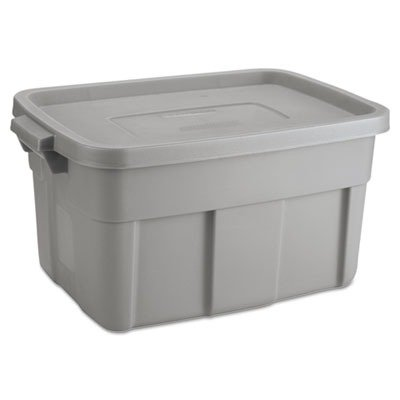 Rubbermaid RHP2212CPSTE - Steel Roughneck Tote, 14 Gallon