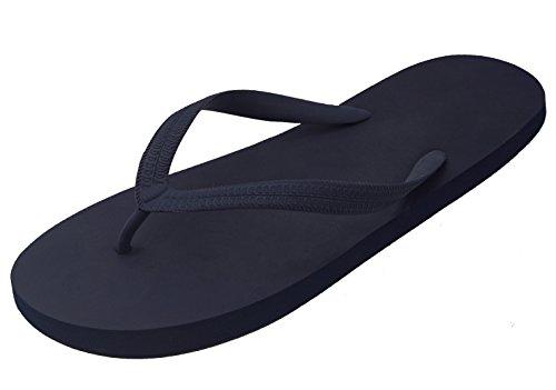 (Besli Men's Soft Comfortable Rubber Flip Flops Thong Sandal Beach Slipper (10 D(M) US, Navy)