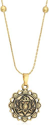 Alex and Ani Lotus Peace Petals IV Necklace, Rafealian Gold, Expandable (Gold Peace Necklace)
