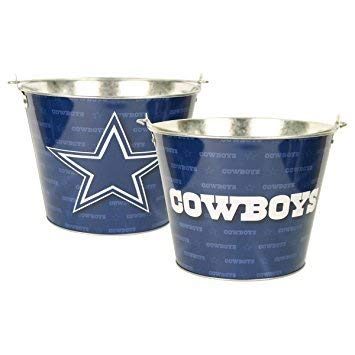 Dallas Cowboys Galvanized Metal Beer Bucket -