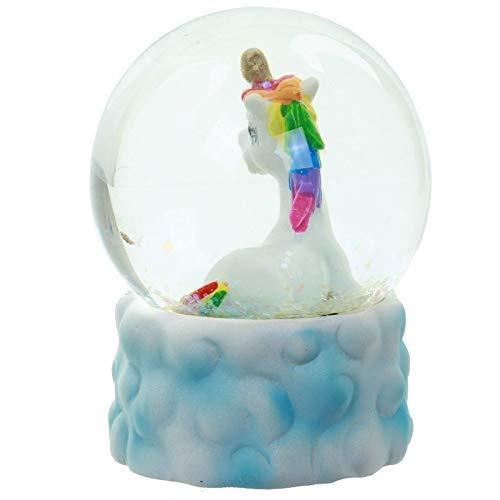 Boule+/%3F+Neige+Licorne+Arc-en-ciel+sur+son+Nuage