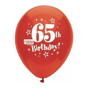 Image Unavailable Not Available For Color Happy 65th Birthday Balloons