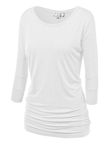White 3/4 Sleeve Top - 3