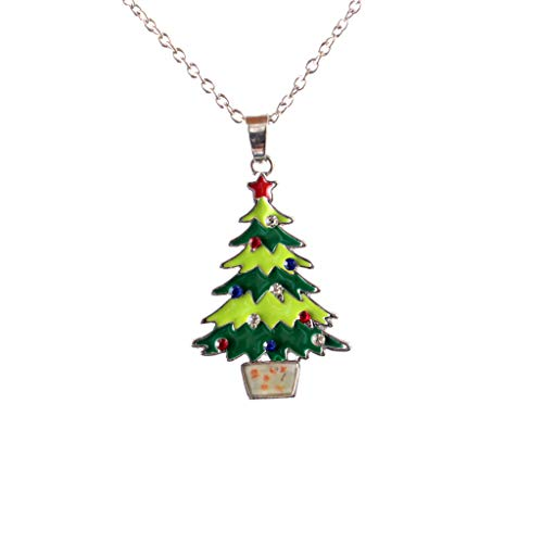 Topgee Necklace - Fashionable New Glowing Christmas Tree Santa Claus Necklace Snowflake Pendant Necklace Christmas Series Luminous Pendant Necklace ()