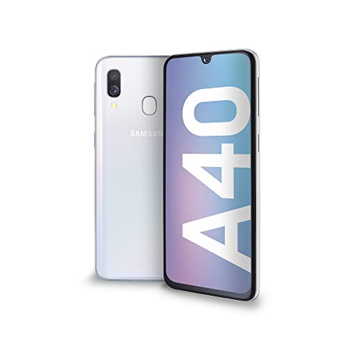Samsung Galaxy A40 Display 5.9″, 64 GB Espandibili, RAM 4 GB, Batteria 3100 mAh, 4G, Dual SIM Smartphone, Android 9 Pie, (2019) [Versione Italiana], White