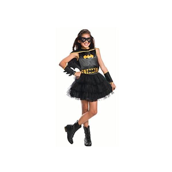 Rubies Girls Black Gold Batgirl Tutu Dress Costume With Cape Gauntlets