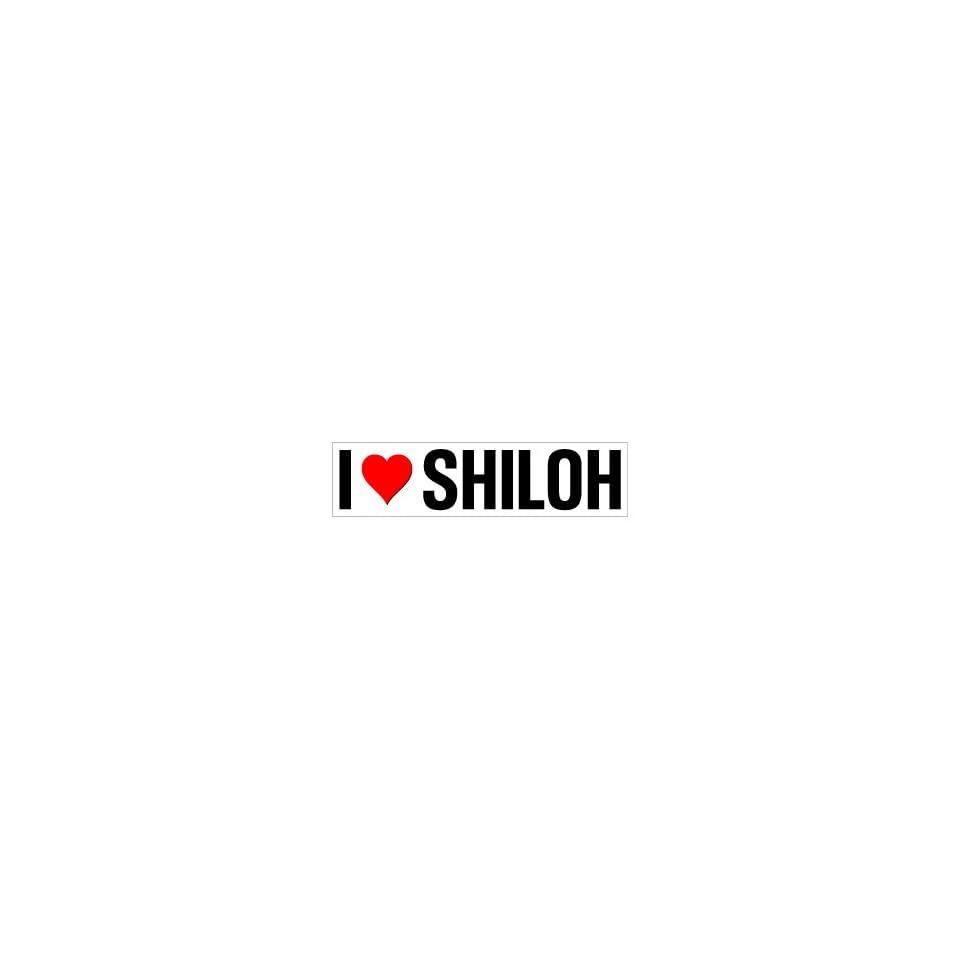 I Heart Love Shiloh   Window Bumper Sticker