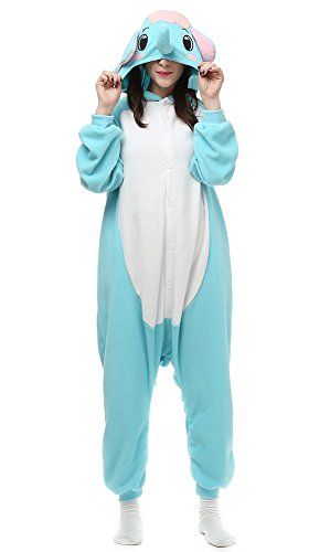 Famycos Unisex Child Adults Cosplay Costumes Pyjamas Halloween Christmas Partywear Blue Elephant Adult-L -