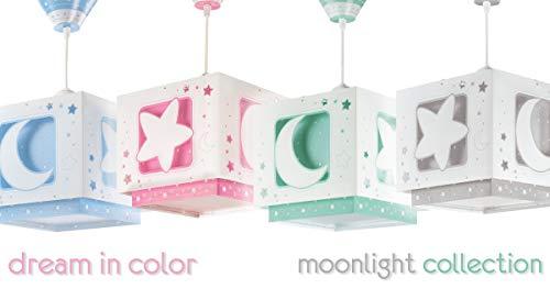 LED Kinderlampe Raumschiffe & Weltraum Stern Sterne Mond Nacht-Leuchtend 63232HFarbwechsel RGB-WW 420 Lumen Jungen & Mädchen Kinderzimmerlampe Deckenlampe