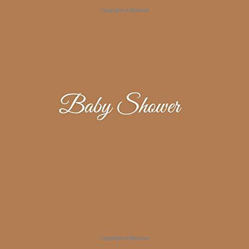 Libro De Visitas Baby Shower ideas regalos decoracion accesorios fiesta firmas invitados baby shower bautizo bebé niño niña 21 x 21 cm Cubierta Marron ...
