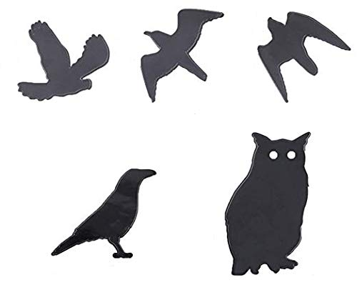 Anti Bird Colision Window Alert Bird Repeller Stickers Bird Pest Control Stickers Shade Scarer 4Pack with 10 Different Birds Haierc