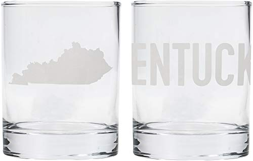 About Face Designs About State of Mine-Kentucky Rock Glass Set, 10 oz, Multi-Color - Kentucky Rocks Glass